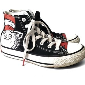 Converse Dr Suess High Top Sneakers Size 2👾